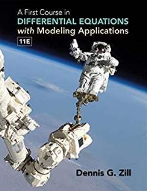 A First Course in Differential Equations w/ Modeling Applications